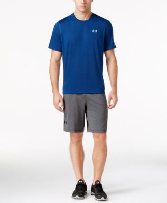 under armour mens shorts. under armour men\u0027s threadborne t-shirt \u0026 raid shorts mens