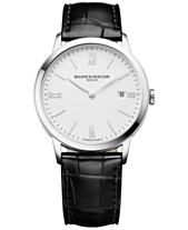 8261c705314 Baume   Mercier Men s Swiss Classima Black Leather Strap Watch 40mm M0A10323