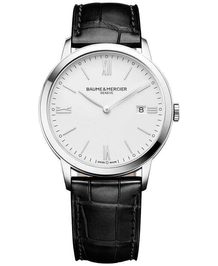Baume & Mercier - Men's Swiss Classima Black Leather Strap Watch 40mm M0A10323