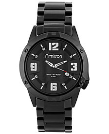 Armitron Men's Black Stainless Steel Bracelet Watch 42mm 20-4692BKTI