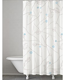 Winter Leaves 100% Cotton Shower Curtain