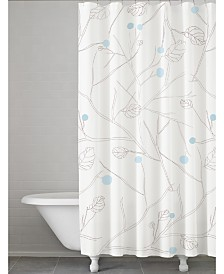 Cassadecor Winter Leaves 100% Cotton Shower Curtain