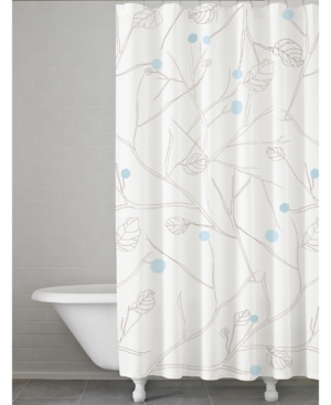 Kassatex Poppy BotanicalPrint Shower Curtain Bedding