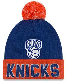 New Era New York Knicks Hardwood Court Big Reflective Knit Hat