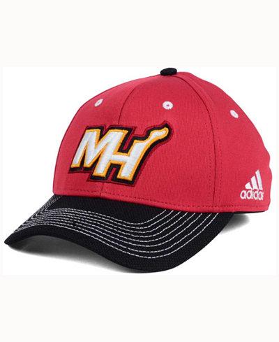 adidas Miami Heat Duel Logo Flex Cap
