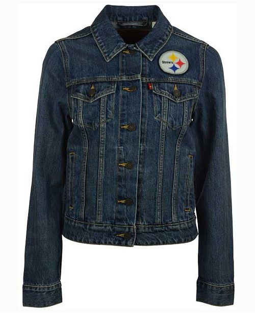hot sales 6679b d24b0 Levi's Women's Pittsburgh Steelers Denim Trucker Jacket ...