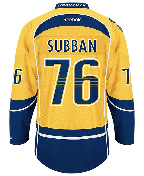 best website 90fba 99ef5 Reebok Men's P.K. Subban Nashville Predators Premier Player ...