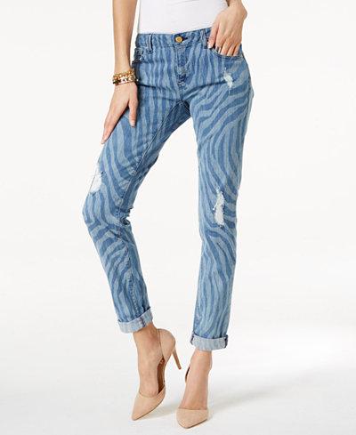 MICHAEL Michael Kors Dillon Ripped Straight-Leg Jeans - Jeans ...