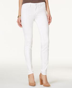 Jessica Simpson Kiss Me White Wash Super-Skinny Jeans 2657300