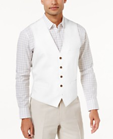 I.N.C. Men's Linen Blend Vest, Created for Macy's