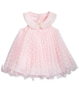 Bonnie Baby Embroidered-Collar Trapeze Dress, Baby Girls (0-24 months)