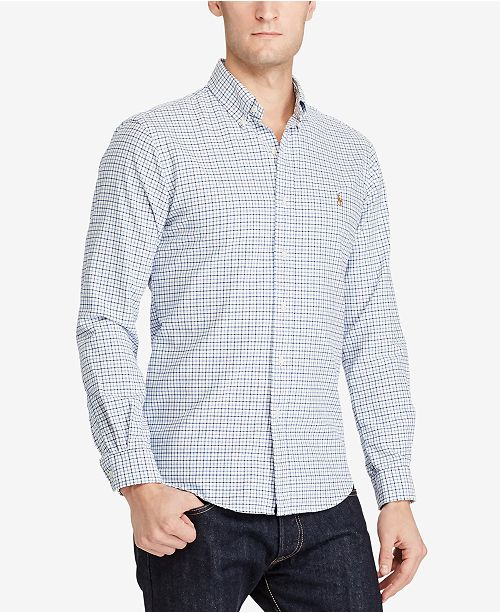 43d1826af Polo Ralph Lauren Men s Checked Oxford Shirt   Reviews - Casual ...