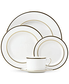 kate spade new york Library Lane Black Collection 5-Piece Place Setting