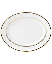 "kate spade new york Library Lane Black Collection 13"" Oval Platter"