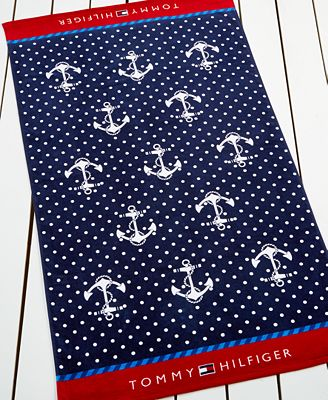 Tommy Hilfiger Pin Dot Beach Towel