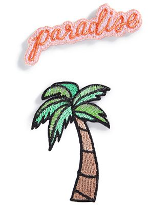Celebrate Shop 2-Pc. Embroidered Paradise Handbag Patch Set