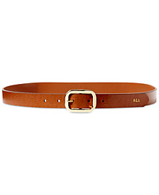 Lauren Ralph Lauren Saffiano Leather Dress Belt