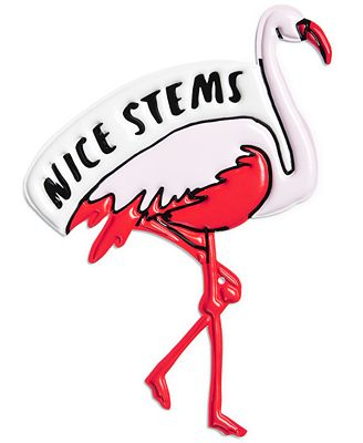 Celebrate Shop Extra-Large Flamingo Handbag Sticker
