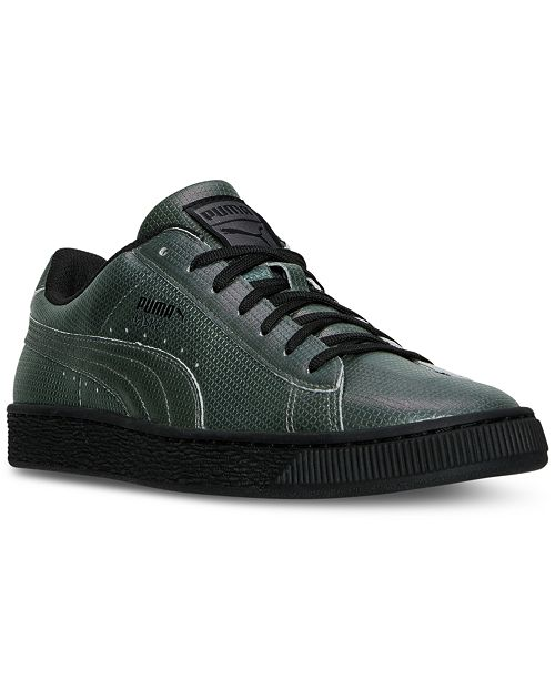 buy popular 72808 12e24 ... Puma Men's Basket Classic Holographic Casual Sneakers from Finish ...