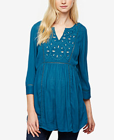 A Pea In The Pod Maternity Embroidered Tunic