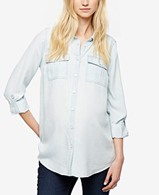 Maternity Chambray Button-Down