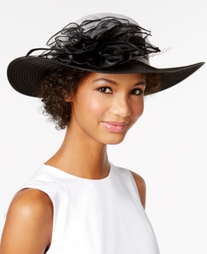 Edwardian Style Hats, Titanic Hats, Derby Hats August Hats Calla Lily Down-Brim Hat $72.00 AT vintagedancer.com