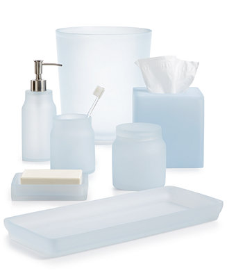 Martha stewart collection closeout frosted powder blue bath accessories created for macy 39 s Martha stewart bathroom collection