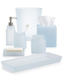 Martha Stewart Collection Frosted Powder Blue Bath Accessories Created For Macy S