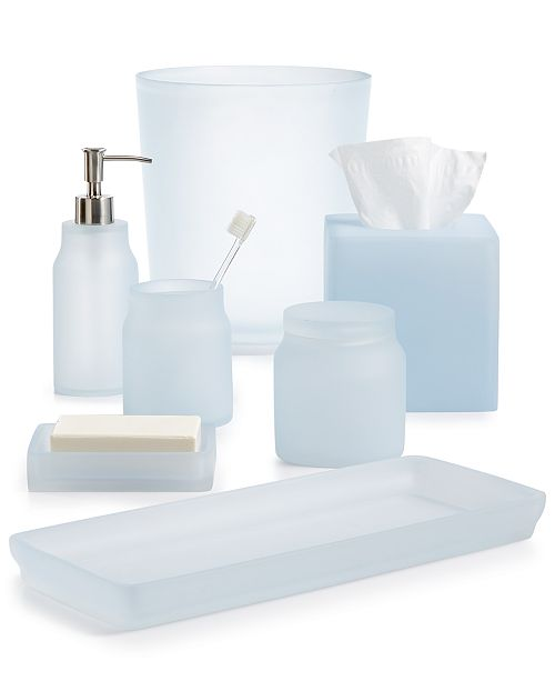 . Martha Stewart Collection CLOSEOUT  Frosted Powder Blue Bath