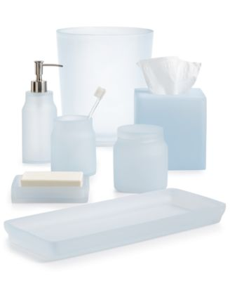 Good Martha Stewart Collection Frosted Powder Blue Bath Accessories, Created For  Macyu0027s