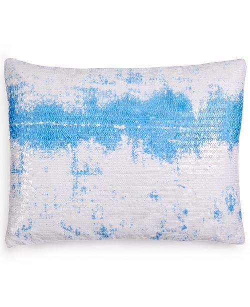 """Calvin Klein Sequin Ombré Sky 12"""" x 16"""" Decorative Pillow"""
