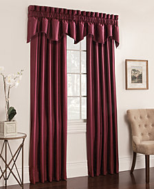 Miller Curtains Buckingham Antique Satin Pair of Window Panels and Valance Collection