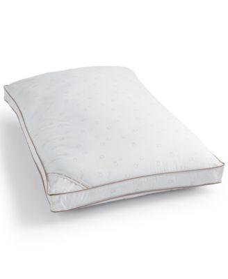 Tossed Logo Print Firm Down Alternative Gusset Standard Pillow, Hypoallergenic