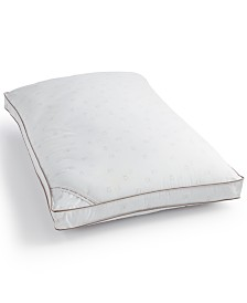 Calvin Klein Tossed Logo Print Firm Down Alternative Gusset Standard Pillow, Hypoallergenic