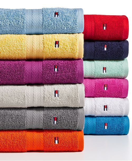 Tommy Hilfiger Home Tommy Hilfiger All American II Cotton Bath Towel Collection, Created for Macy's