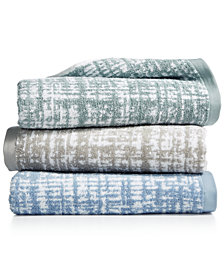"Hotel Collection Plaid 30"" x 56"" Turkish Cotton Bath Towel, Created for Macy's"
