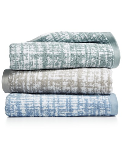 Hotel Collection 100% Turkish Cotton Plaid Bath Towel Collection, Created for Macy's
