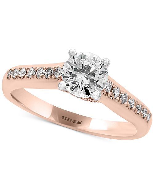 EFFY Collection EFFY®  Infinite Love Diamond Engagement Ring (1 ct. t.w.) in 18k Rose Gold
