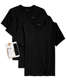 BOSS Men's Underwear, Cotton 3 Pack  V Neck Undershirts