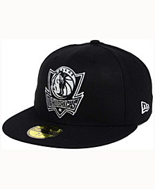 New Era Dallas Mavericks Black White 59FIFTY Cap