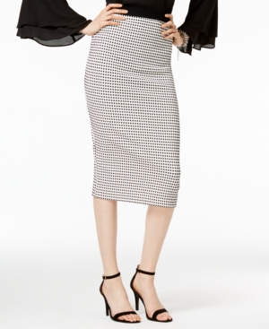 1950s Skirts for Sale: Poodle, Pencil, and Circle Skirts Alfani Gingham Midi Pencil Skirt Only at Macys $44.99 AT vintagedancer.com