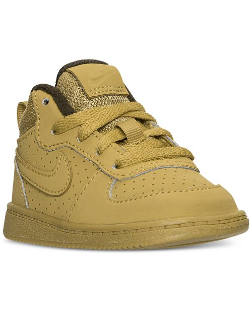 3ad08be1e175 ... Nike Toddler Boys  Court Borough Mid Premium Casual Sneakers from  Finish ...