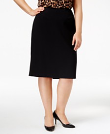 Anne Klein Plus Size Pencil Skirt