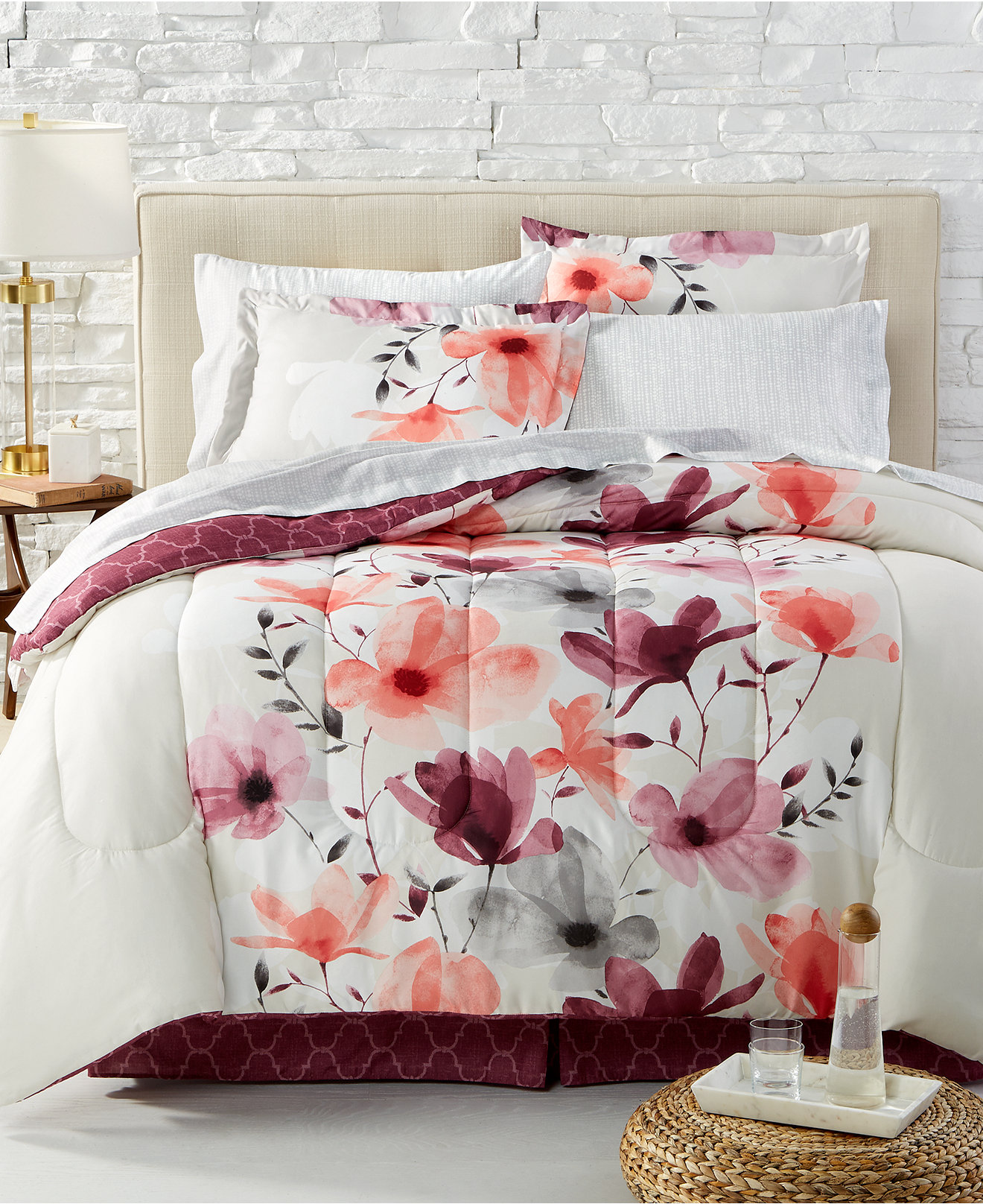 bed in a bag and comforter sets queen king  more  macy's - annette reversible bedding ensembles