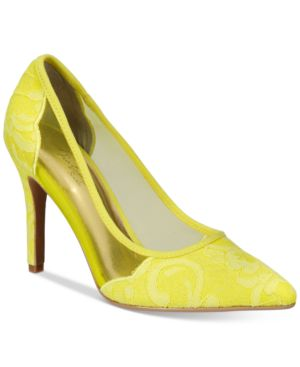 Thalia Sodi Natalia Mesh Pointed-Toe Floral Pumps, Created for Macy
