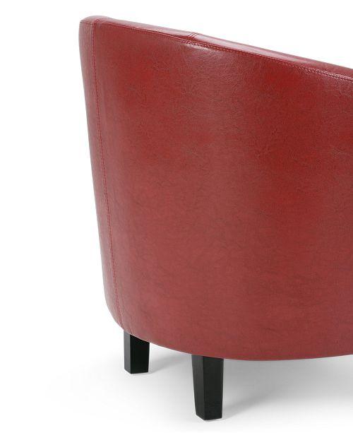 Strange Westbrook Faux Leather Tub Chair Quick Ship Creativecarmelina Interior Chair Design Creativecarmelinacom