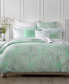 CLOSEOUT! Charter Club Damask Designs Fern Mint Duvet Sets, Created for Macy's