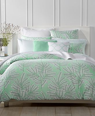 Closeout Fern Mint Bedding Collection Created For Macy S
