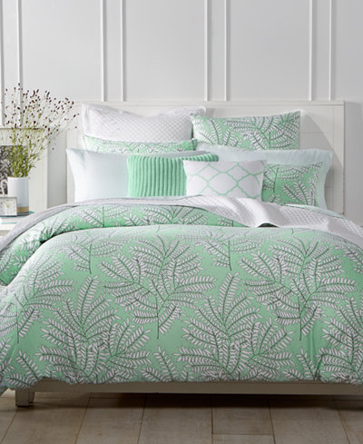 Charter Club Damask Designs Fern Mint Duvet Sets, Created for Macy's