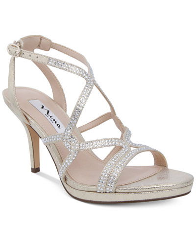 Nina Varsha Strappy Evening Sandals - Sandals - Shoes - Macy's